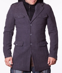 Мъжко спортно-елегантно палто Phillip сиво