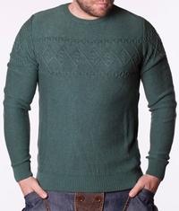 Мъжки пуловер Lefties Green