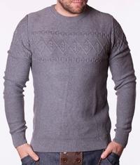 Мъжки пуловер Levies-сив