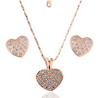 "Комплект бижута с кристали Swarovski Elements ""Golden Shiny Heart"""