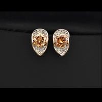 Обеци 'Amber' с кристали Swarovski Elements и 18K златно покритие