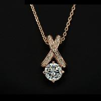 Колие 'Lovely Crystal' с кристали Swarovski Elements и 18K златно покритие
