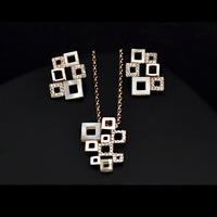 Комплект бижута 'Impressive' с кристали Swarovski Elements и 18K златно покритие