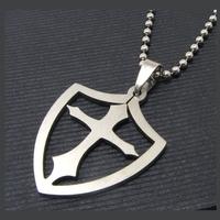 Unisex медальон 'Cross 5' 316L