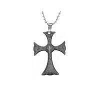 Unisex медальон 'Cross 7' 316L