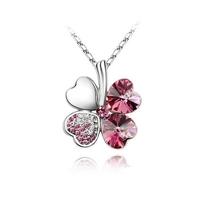 Колие Lucky Clover Pink С Кристали Swarovski Elements