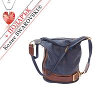 Чанта Естествена Кожа МАДЖОРЕ, FLORENCE, син/кафяв цвят, Код FL3003
