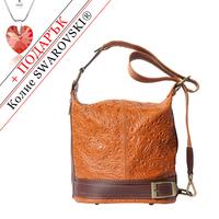 Чанта Естествена Кожа ЛОМБАРДИЯ, FLORENCE, кафяв цвят, Код FL300S3