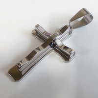 Висулка от стомана КРЪСТ, колекция BokaSTEEL, медицинска стомана, 316L P027