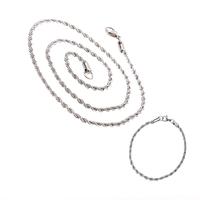 Ланец и гривна от стомана СТИЛ СНЕЙК, УНИСЕКС, код 316L S101-5мм
