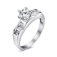 Пръстен ВЯРНОСТ-А, стомана с инкрустирани циркони. Годежен пръстен! Размери 6, 7 и 8, Код 316L R045-A