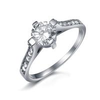 Пръстен ОБИЧ, стомана с инкрустирани циркони. Годежен пръстен! Размери 6, 7 и 8, Код 316L R049