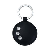 Кожен ключодържател кръг DSE Сваровски Елементи - Бизнес подарък Код 5082484