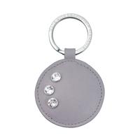 Ключодържател кожен кръг DSE Swarovski Elements - Бизнес подарък Код 5082486