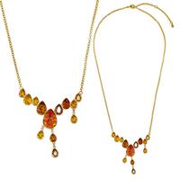 Цветисто колие Огън и Лед DSE Swarovski Elements, различни кристали и 18К златно покритие, Код 5087626