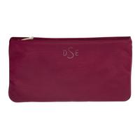 Чантичка с цип DSE Swarovski Elements, тъмно червена  PVC, Код 5100211