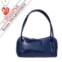 Чанта Естествена Кожа ПОЗИТАНО, FLORENCE, тъмносин цвят, Код FL68868