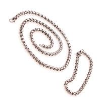 Комплект ланец и гривна от стомана за мъж АХИЛЕС, код 316L S145