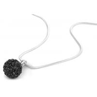 925SB P09150 Колие Шамбала, кристали черни!