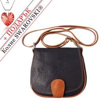Чанта Естествена Кожа РИМИНИ, FLORENCE, черен/кафяв цвят, Код FLB0247B