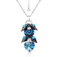 Колие SWAROVSKI® ROMANCE HEART Bermuda Blue BBL 10 мм, Син цвят, Код PR N098