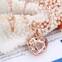 18KG N05092 Колие ВЛЮБЕНА, Zerga Brand, розово златно покритие