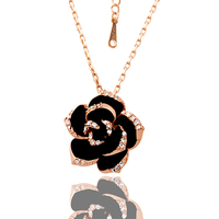 18KG N05079 Колие НЕЖНА РОЗА, Zerga Collection, розово златно покритие