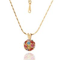 18KG N43202 Колие ЦВЕТНА НАГИРА, Zerga Brand - розово златно покритие