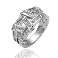 18KG R01682 Пръстен ПЛЕТЕНИЦА Zerga Jewelry - 18К бяло златно покритие