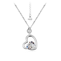Колие SWAROVSKI® SWEET HEART Crystal, Бял, Код PR N124