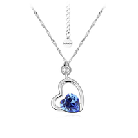 Колие SWAROVSKI® SWEET HEART Sapphire, Син, Код PR N125