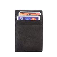 Калъф за документи Естествена Кожа МОНЦА, FLORENCE, черен цвят, Код FL PC027