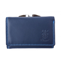 Портмоне Естествена Кожа ФЕЛИНИ, FLORENCE, син цвят, Код FL PF060B6