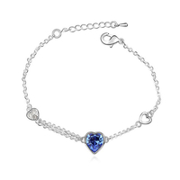 Гривна SWAROVSKI® SWEET HEART Sapphire, Син, Код PR B002