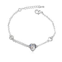 Гривна SWAROVSKI® SWEET HEART Crystal AB, Бял, Код PR B003