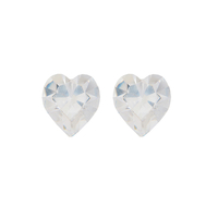 Обеци SWAROVSKI® SWEET HEART Crystal 6 мм, Бял цвят Код PR E202