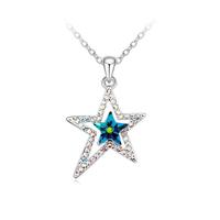 Колие SWAROVSKI® BRIGHT STAR Vitrail Medium** VM, Зелен, Код PR N122
