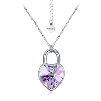 Колие SWAROVSKI® KEY OF HEART, Violet AB - Светло лилав, Код PR N126