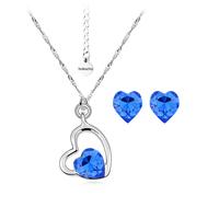 Бижута SWAROVSKI® SWEET HEART Sapphire, Син, Колие и обеци (8 и 6 мм),  Код PR S116