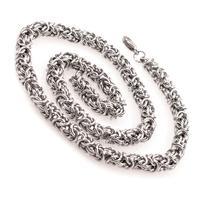 Ланец от стомана за мъж СРЕБЪРЕН КРОНОС, код 316L N049