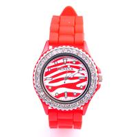 Унисекс ръчен часовник, Силиконова каишка Червена, колекция UB Бутик, Код UB W003