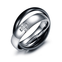 Пръстен БАЛАНС, мъжка халка от стомана. Размери 7, 8, 9 и 10, код 316L R106-M