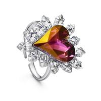 Пръстен PURPLE HEART NEW, ZYRDA Crystals from SWAROVSKI®, Код ZD R009